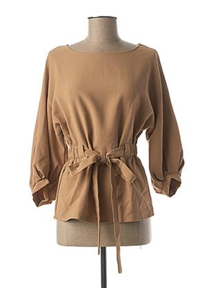Tunique manches courtes beige MOLLY BRACKEN pour femme