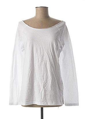 T-shirt manches longues blanc BSB pour femme