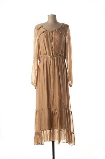 Robe longue beige B.YU pour femme
