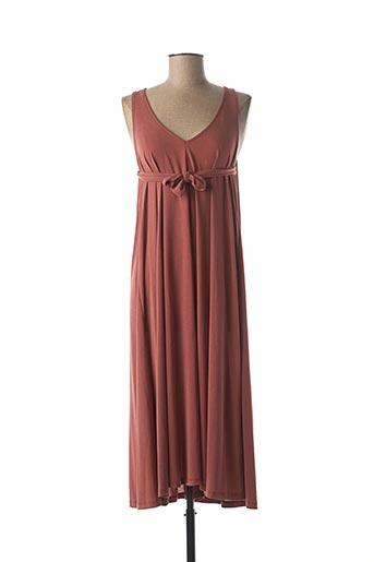 Robe longue rose B.YU pour femme