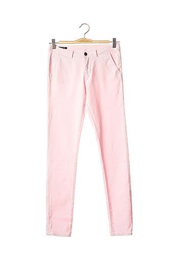 Pantalon casual rose SCHOOL RAG pour femme