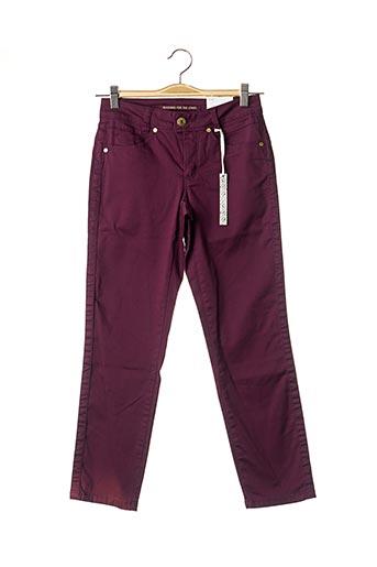Pantalon casual violet STREET ONE pour femme