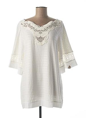 Tunique manches longues blanc ELISA CAVALETTI pour femme