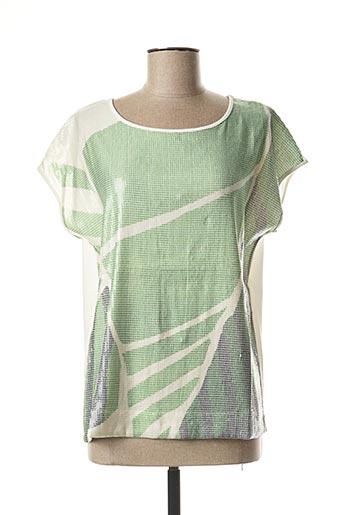 T-shirt manches courtes vert MARIA BELLENTANI pour femme