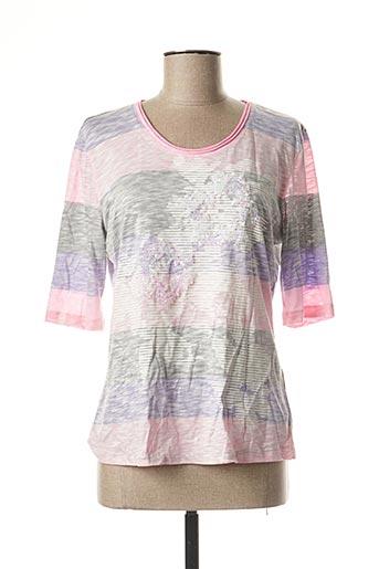 T-shirt manches longues rose FRANK WALDER pour femme