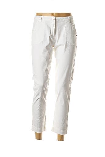 Pantalon 7/8 blanc THALASSA pour femme