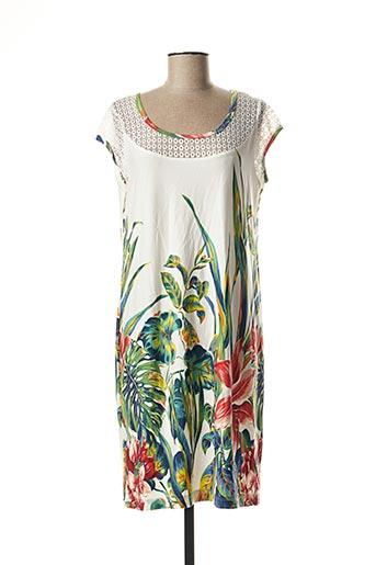 Robe mi-longue vert TELMAIL pour femme