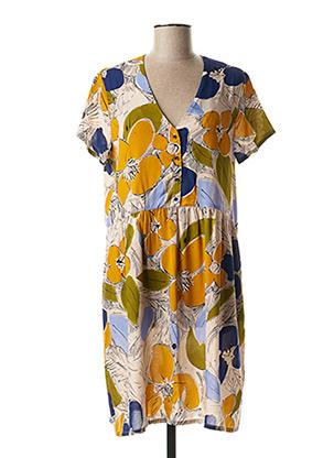 Robe mi-longue jaune HARRIS WILSON pour femme