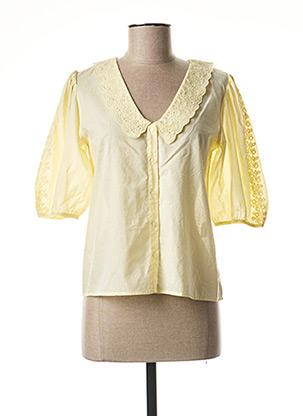Chemisier manches courtes jaune PETITE MENDIGOTE pour femme