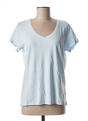 T-shirt manches courtes bleu SCHOOL RAG pour femme