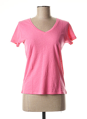 T-shirt manches courtes rose SCHOOL RAG pour femme