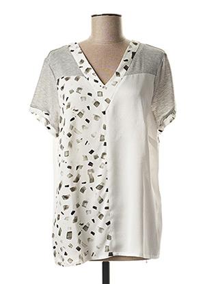T-shirt manches courtes gris MERI & ESCA pour femme