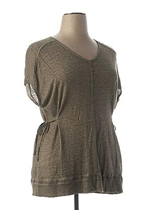 T-shirt manches courtes gris MALOKA pour femme