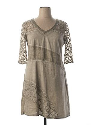 Robe mi-longue gris MALOKA pour femme