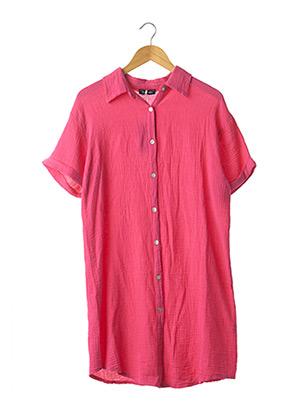 Robe mi-longue rose GRACIELA pour femme