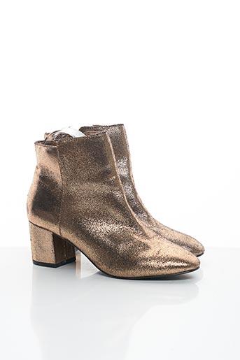 Bottines/Boots beige PROMOD pour femme