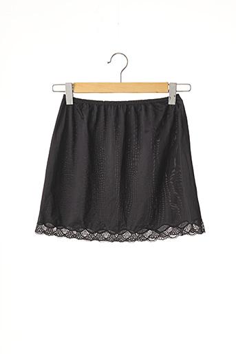 Jupon /Fond de robe noir SANS MARQUE pour femme