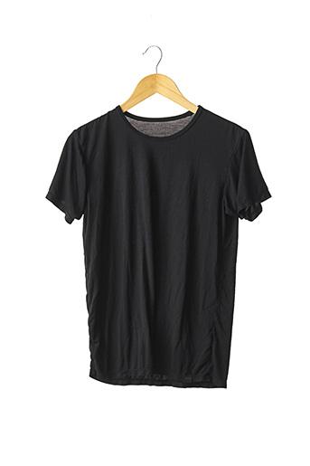 T-shirt manches courtes noir HEATTECH pour femme