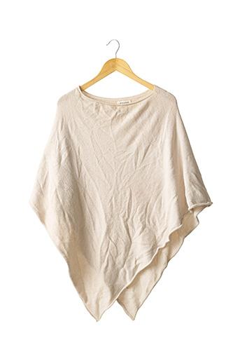 Poncho beige SENES pour femme