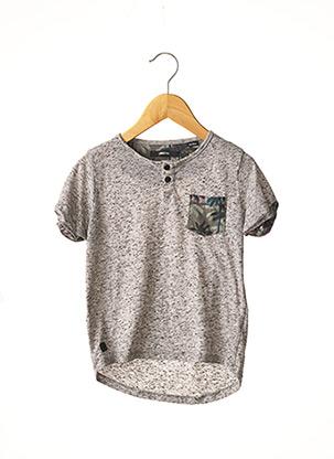 T-shirt manches courtes noir LIBERTO pour garçon