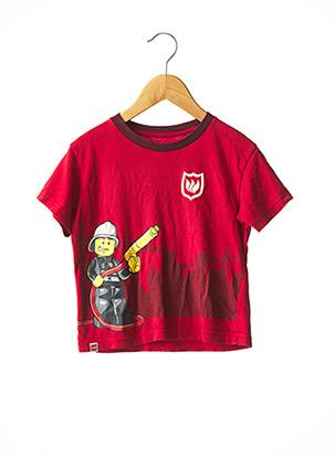 T-shirt manches courtes rouge UNIQLO pour garçon