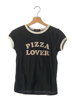T-shirt manches courtes noir FOREVER 21 pour femme