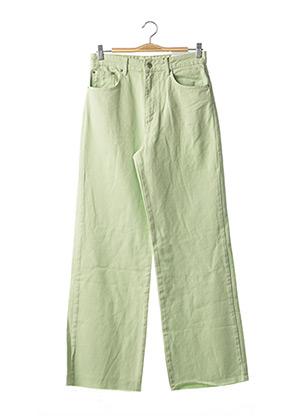 Jeans coupe large vert STRADIVARIUS pour femme