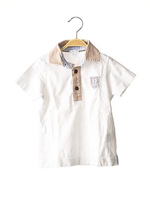 Polo manches courtes blanc JACADI PARIS pour garçon