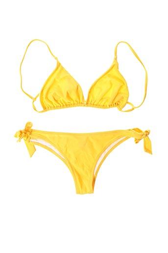 Maillot de bain 2 pièces jaune BLUSHA pour femme