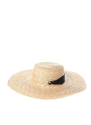 Chapeau beige GALERIES LAFAYETTE pour femme