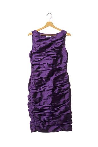 Robe mi-longue violet CALVIN KLEIN pour femme