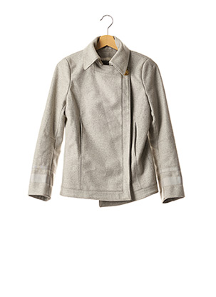 Manteau court gris ALEXANDER MCQUEEN pour femme
