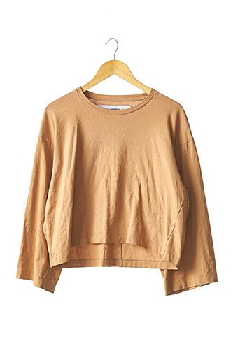 T-shirt manches longues marron MARGAUX LONNBERG pour femme