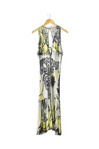 Robe longue jaune ROBERTO CAVALLI pour femme
