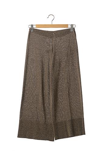 Pantalon casual beige MALIPARMI pour femme