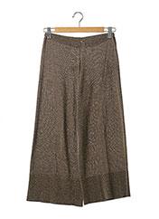 Pantalon casual beige MALIPARMI pour femme seconde vue