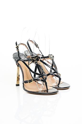 Sandales/Nu pieds noir EMPORIO ARMANI pour femme