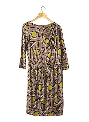 Robe mi-longue marron MOSCHINO pour femme