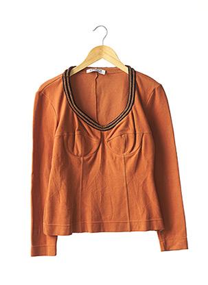Sweat-shirt orange ALBERTA FERRETTI pour femme