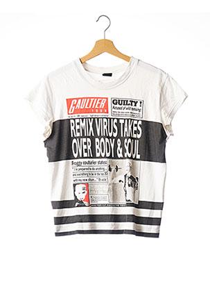 T-shirt manches courtes blanc JEAN PAUL GAULTIER pour femme