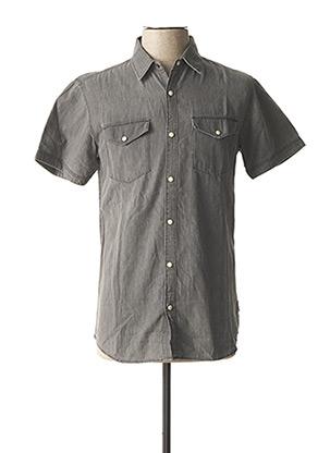 Chemise manches courtes gris JACK & JONES pour homme