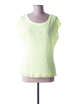 Pull col rond jaune SO SWEET pour femme