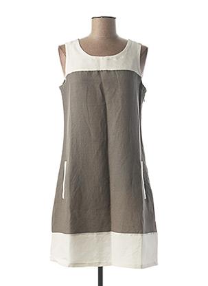 Robe courte gris ESPRIT DE LA MER pour femme