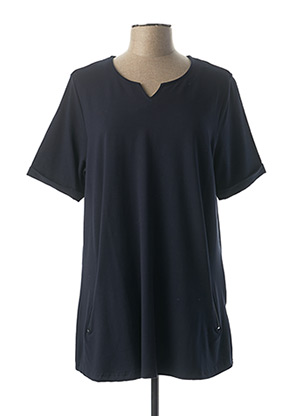 Tunique manches courtes bleu LEAH CURVE pour femme