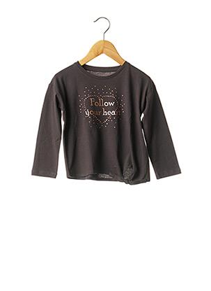 T-shirt manches longues gris LOSAN pour fille