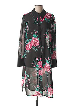 Robe mi-longue noir RIO pour femme
