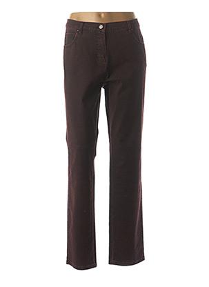 Jeans coupe droite rouge FRANK WALDER pour femme