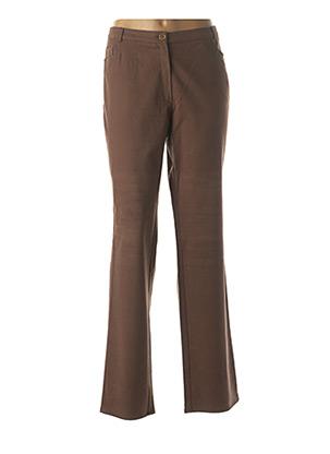Pantalon casual marron CHRISTIAN MARRY pour femme