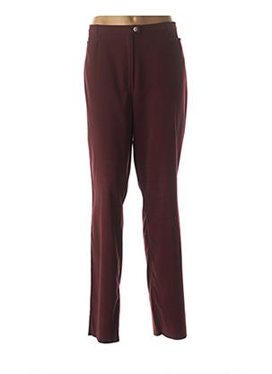 Pantalon casual rouge CHRISTIAN MARRY pour femme