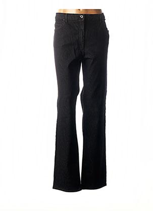 Jeans coupe droite noir CHRISTIAN MARRY pour femme